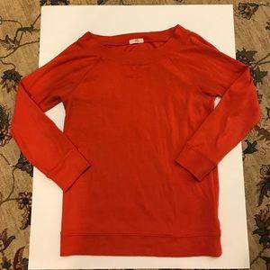 J crew red city sweatshirt size small